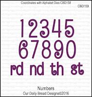 ODBD Custom Numbers Dies