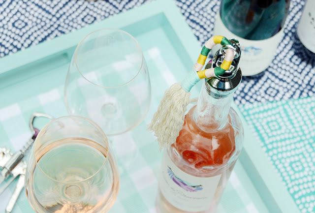 DIY Tassel Wine Stopper With 90+ Cellars /// A Tutorial By Faith Towers of Design Fixation