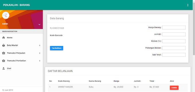 GRATISS !! Source code Aplikasi Kasir & Penjualan Dengan Menggunakan Barcode Scanner [Full]