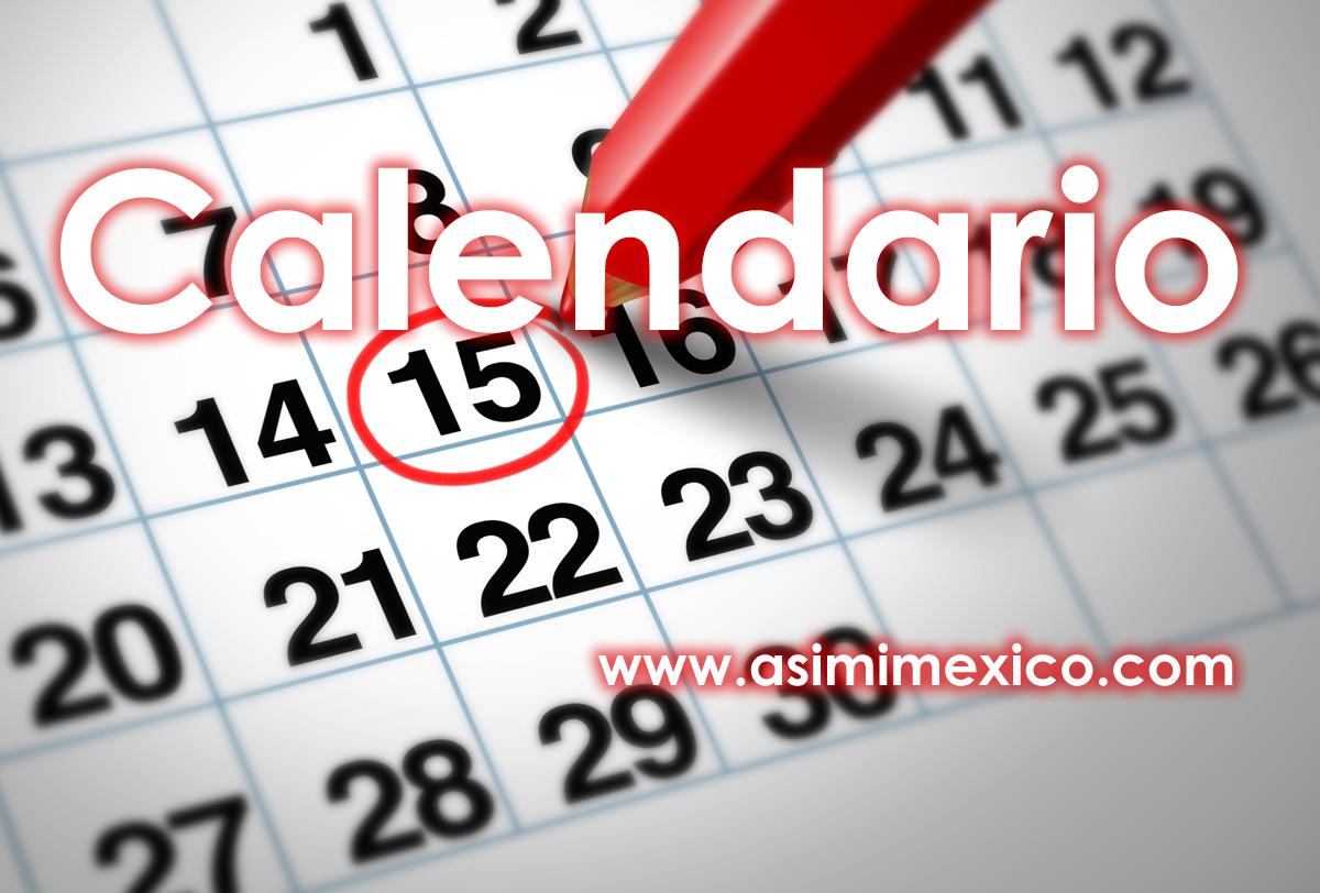 Calendario con Meses y Dias
