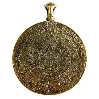 купить бронзовые ювелирные изделия кулон украшения календарь ацтеков