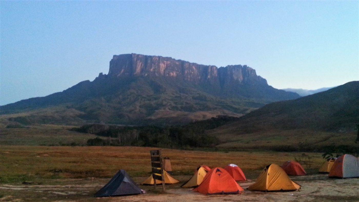 Палаточный лагерь в парке Канайма