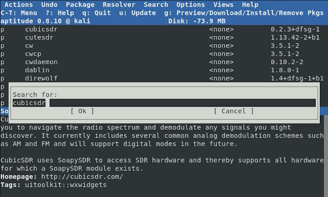 العثور على حزم كالي لينكس-Kali Linux