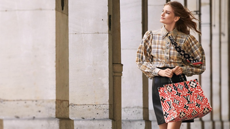 Louis Vuitton focuses on patchwork prints for LV Crafty campaign.