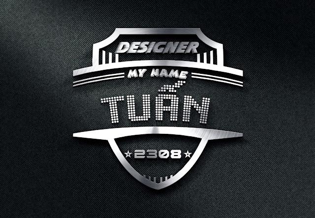 3 logo mockup