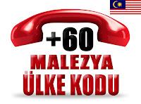 +60 Malezya ülke telefon kodu