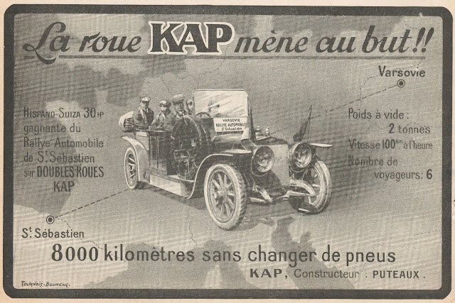 шины Проводник российского производства в ралли 1913 года. Российская империя и производство автомобильных покрышек.
