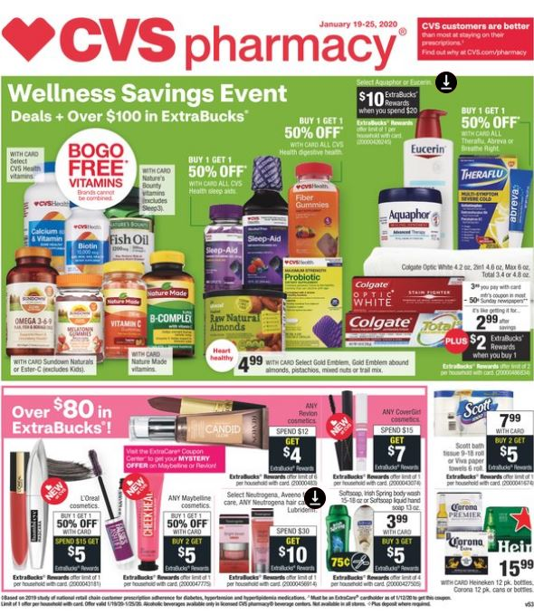 CVS Weekly Ad Preview 1/19-1/25 Page-1