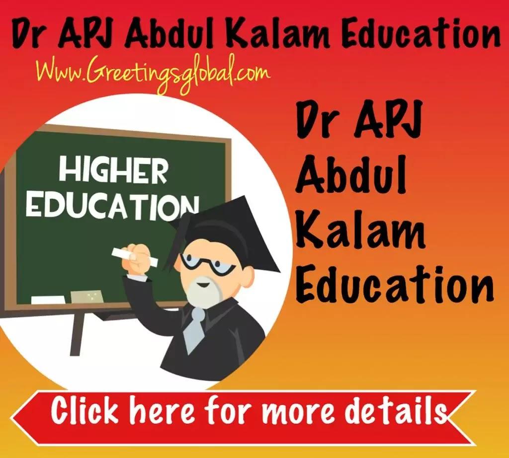 APJ Abdul kalam higher Education