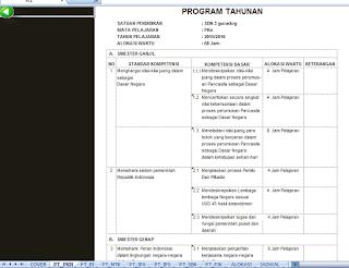 Aplikasi Prota dan Promes Guru Kelas Berbasis Excel