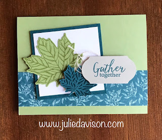 Stampin' Up! Gather Together Fall Autumn Card ~ 2019 Holiday Catalog ~ www.juliedavison.com