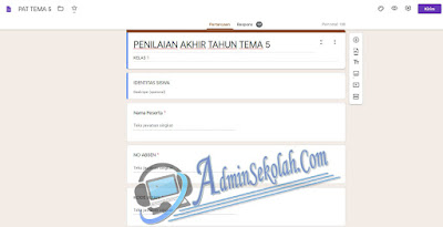 Cara Membuat Soal Ujian Online Dengan Google Form