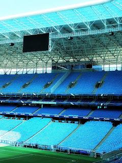 Cadeiras e Placar Eletrônico da Arena do Grêmio