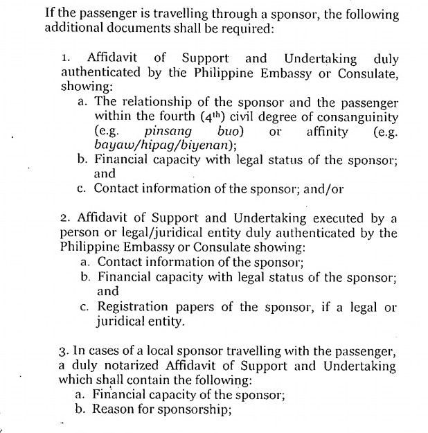 Philippine passport aapplying for a tourist visa to visit bf 21 affidavit of support and undertaking duly authenticated by the philippine embassy or consulate stopboris Gallery