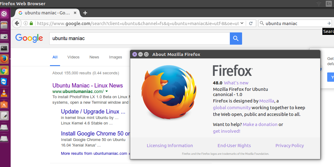Mozilla Firefox 48 0 is Available, Install on Elementary OS