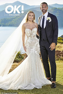 Kate Wright and Rio Ferdinand wed