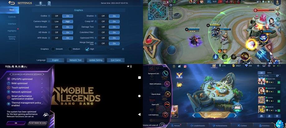 vivo y20 s g gaming - mobile legends