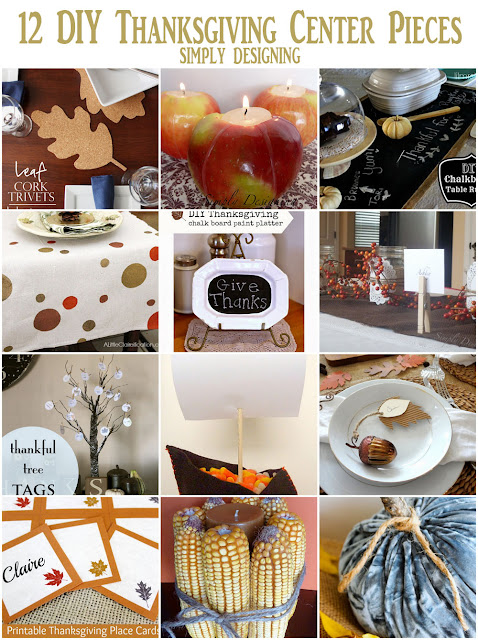 12 DIY Thanksgiving Center Pieces | #diy #thanksgiving #thanksgivingtablescape