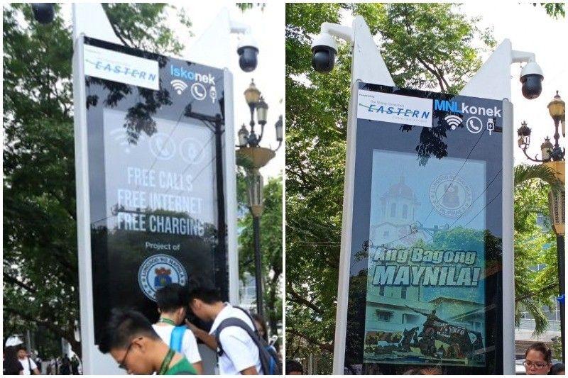 Manila City changes name of free Wi-Fi and charging kiosk to MNLKonek