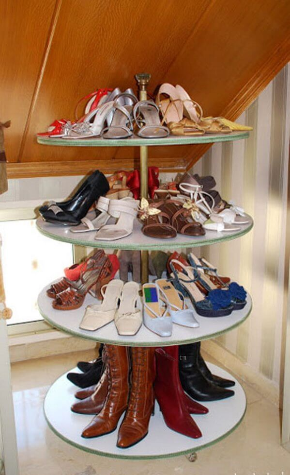 Modern and unique shoe cabinet design cool ways to store for Shoe sculpture ideas