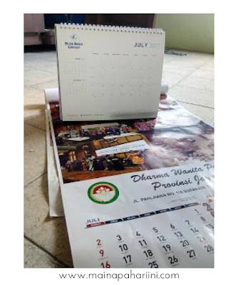 tutorial membuat diy mudah bersama anak dengan memanfaatkan kalender bekas