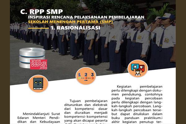 RPP SMP 1 Halaman Resmi dari Pusat Kurikulum Kemendikbud, Download RPP Inspiratif 1 Halaman jenjang SMP/MTs Resmi dari Pusat Kurikulum Kemendikbud