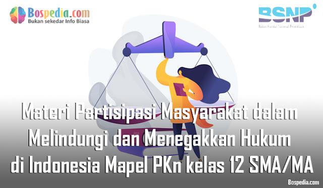 Materi Partisipasi Masyarakat dalam Melindungi dan Menegakkan Hukum di Indonesia Mapel PKn kelas 12 SMA/MA