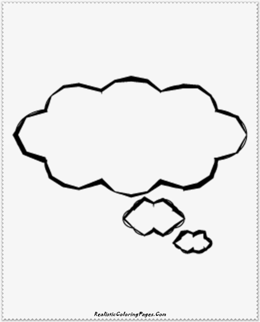 simple clouds coloring pages
