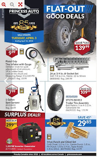Princess Auto Flyer April 3 to 15, 2018