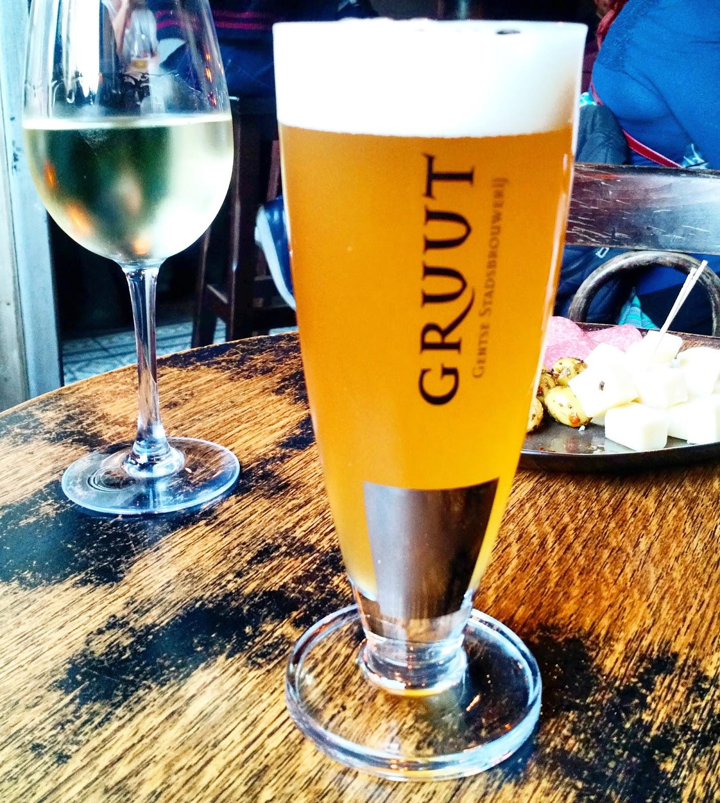 Le Chameau Bleu - Escapade à Gand en Belgique - Biere locale de Gand Gruut