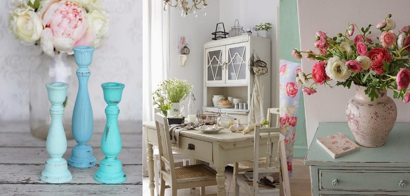 Cool shabby chic style romantic home decor cheap but for Style romantique deco