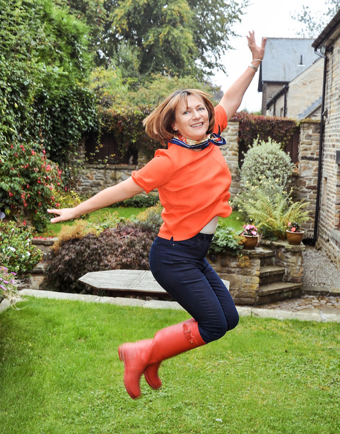 Ageing gracefully: Clare Shepherd jumps for joy
