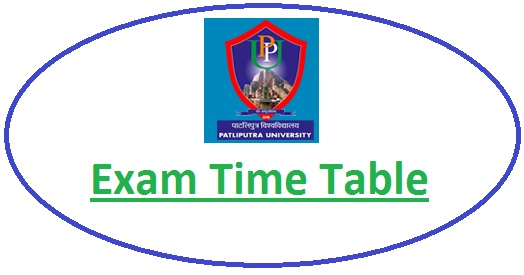 Patliputra University Date Sheet 2020