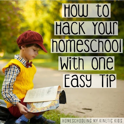 Make your homeschool journey much easier with this one tip!
