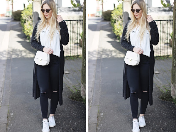out of my comfort zone - dark grey long cardigan