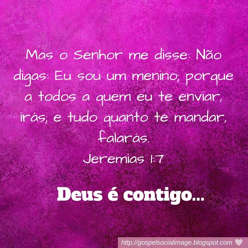 Imagem com texto bíblico de fortalecimento - Jeremias 1:7