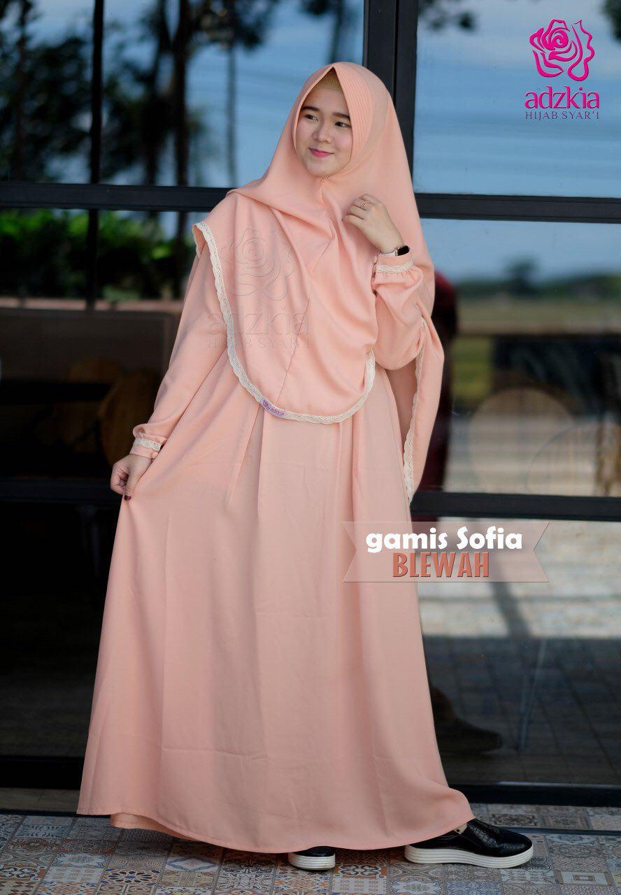 Maulidya Adzkia Hijab Syari Sofia Set Gamis Only 235000 Jilbab 145000