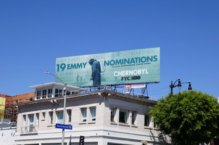 Chernobyl HBO Emmy nominee billboard