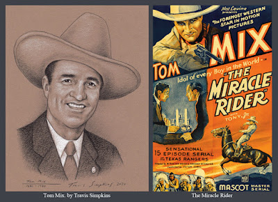 Tom Mix. American Actor. Hollywood Western Film Star. Freemason. The Miracle Rider. by Travis Simpkins