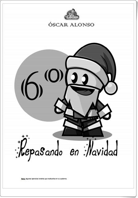 """""""Repasando en Navidad"""" (Cuaderno de Lengua Española de 6º de Primaria)"""