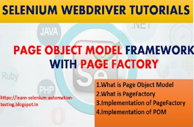 Selenium WebDriver Page Object Model Framework Introduction