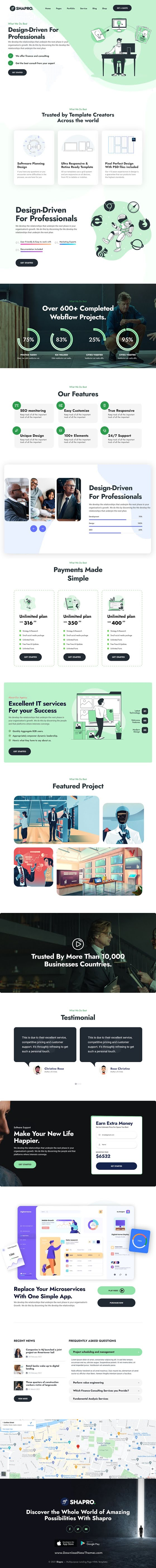 Multipurpose Landing Page Bootstrap Responsive Template