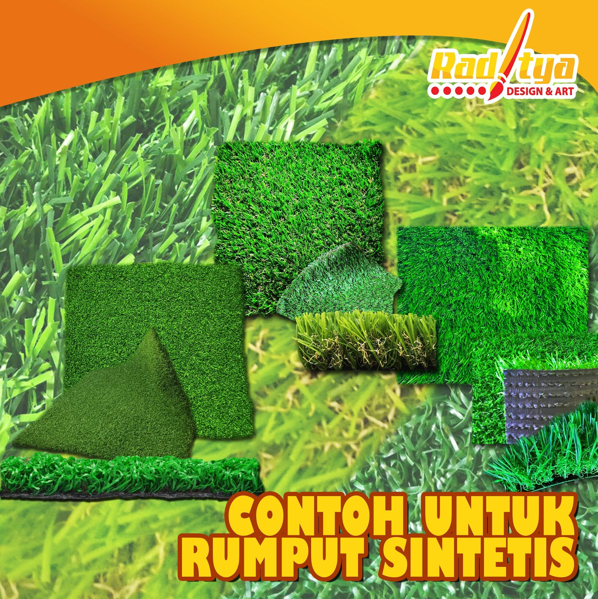 contoh untuk rumput sintetis