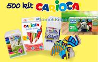 Logo ''Gioca, colora e scopri la natura'' e vinci 500 kit Carioca e una vacanza Natura per 4 persone