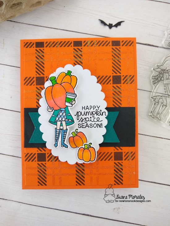 Happy pumpkin spice season by Diane features Pumpkin Latte, Plaid, and Frames & Flags by Newton's Nook Designs; #newtonsnook