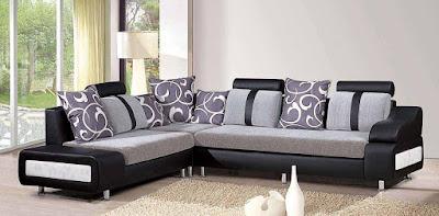 sofa tamu sudut elegan