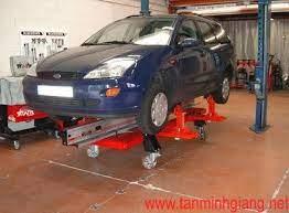 Cầu nâng cho khoang sửa chữa xe tai nạn-4