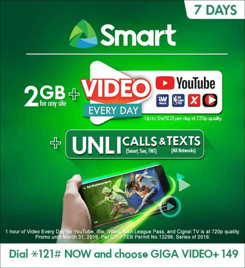 Smart announces new Giga Video+ data promos for prepaid customers