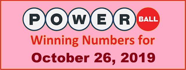 PowerBall Winning Numbers for Saturday, October 26, 2019