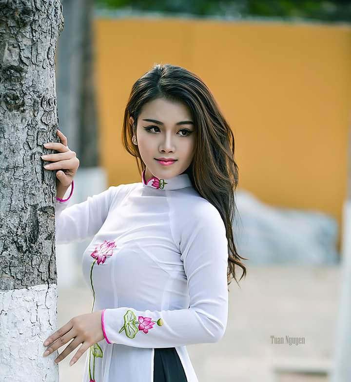 Tuyển tập girl xinh gái đẹp Việt Nam mặc áo dài đẹp mê hồn #60 - 25